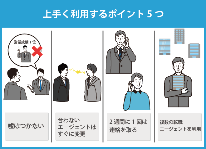 静岡で転職エージェントを上手く利用するコツ